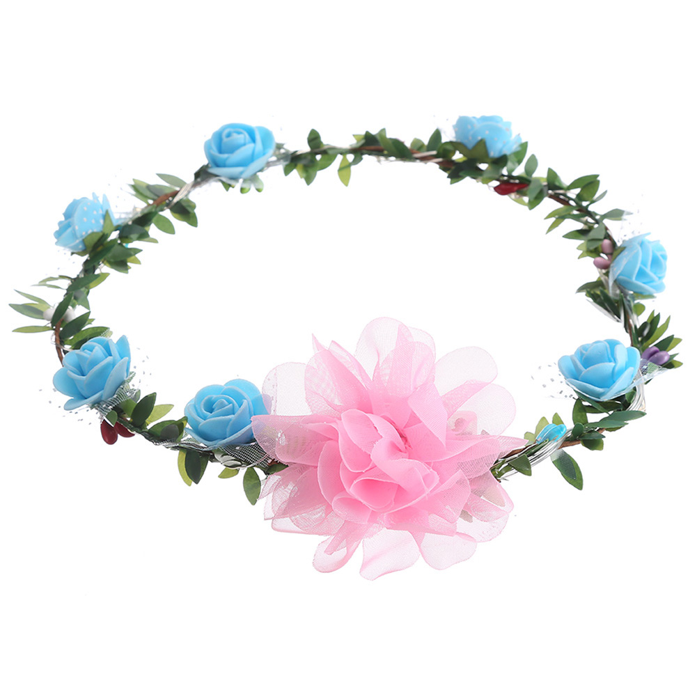 Beautiful Handmade Floral Crown Led Flower Headband Trombone Hair Garland Wedding Headpiece Wedding Hair Accessories Hair Band For Women To Assure Years Of Trouble-Free Service