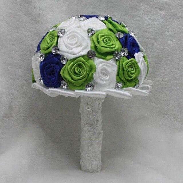 Горячая распродажа 2016 элегантный индивидуальные свадебное YIYI букет с перл из бисера брошь нью-романтический свадебный красочные невеста букет WD0022