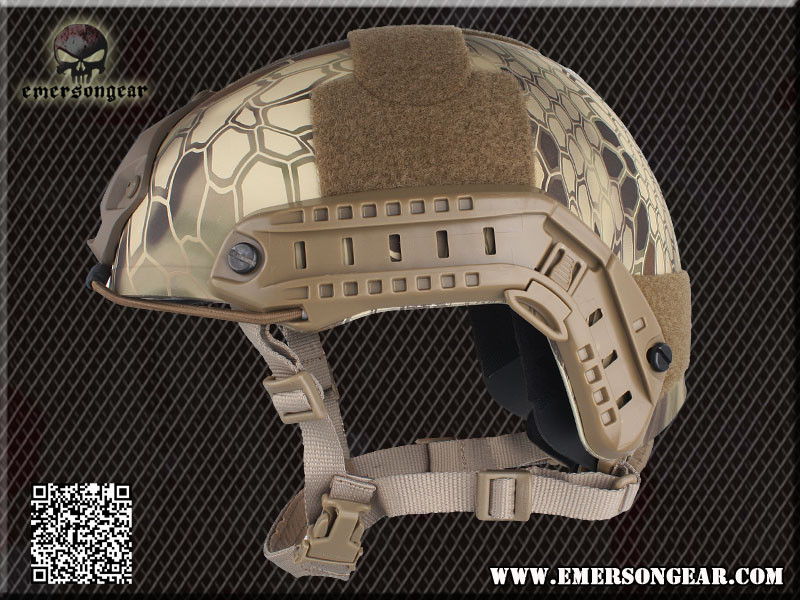 EMERSON FAST Helmet MH Tactical Helmet Paragraph Military Version -TYP Highlander Mandrake AT FG BK FG Digital Desert MC DE