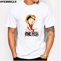 One Piece T Shirt 2017 Fashion Japanese Anime Clothing Luffy Cotton T Shirt For Man And