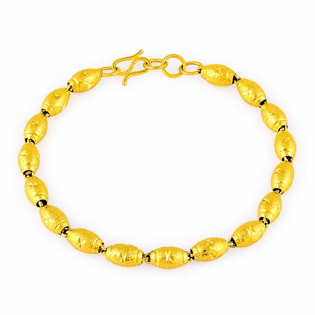 Shining Gold Color Plated Beads Enamel Bracelet Designs Metal Good