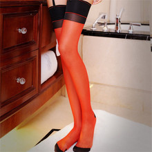 5 Colors Sexy Cuban Heel Stockings Female Thigh High Stockings Over the Knee Socks Sexy Lingerie Stocking For Women Ladies