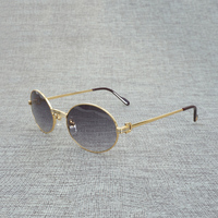 Vintage Round C Sunglasses Men Clear Glasses for Reading Metal Frame Sun Glasses for Outdoor Summer Accessories Oculos Gafas 008