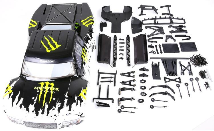 روفان 5B ترقية إلى 5SC شفافة سيارة الجسم شل تحويل عدة ل 1/5 hpi kingmotor باجا 5SC rc سيارة أجزاء-في قطع غيار وملحقات من الألعاب والهوايات على  مجموعة 1