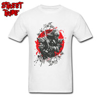 Black Samurai T Shirt For Men Leisure TShirt New Coming Custom Top Tees Round Neck Japan Style Clothes 100% Cotton Short Sleeve