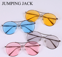 Vintage Women Night vision Jumping Jack sunglasses Gentle Driving Sunglasses UV400 Lens Round Retro Style sun glass