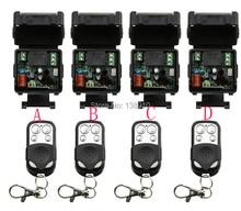 Ac220v 10A 1CH RF sans fil système de commutateur de commande à distance teleswitch 4 émetteur et 4 récepteur relais récepteur commutateur de maison intelligente