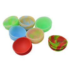 20pcs Mini Silicone Pinch Bowl fluorescent soft Flexible dab jars container Dinnerware Set Kitchen Tools for bho wax oil hash