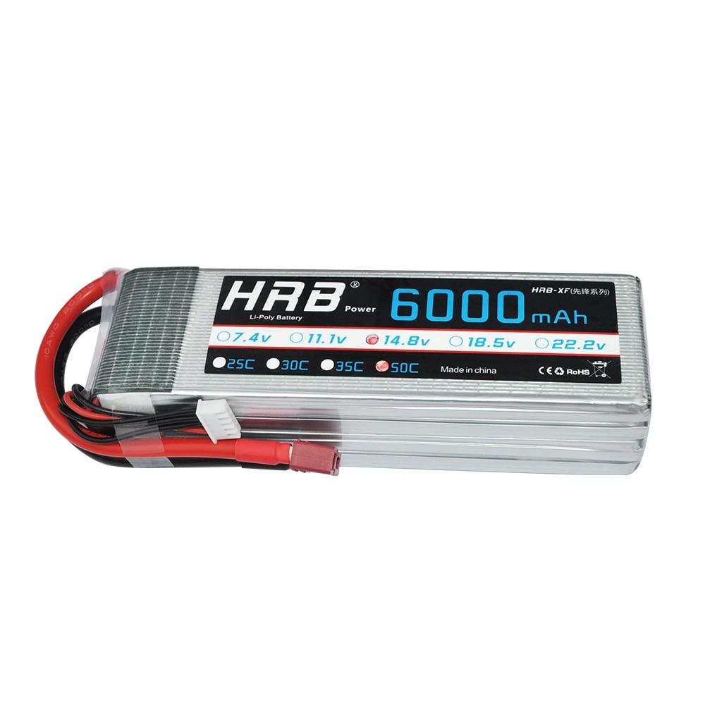 2pcs HRB RC Lipo Battery 18.5V 6000mAh 50C-100C AKKU Batteria For RC Helicopters Li-polymer Battery Drone FPV