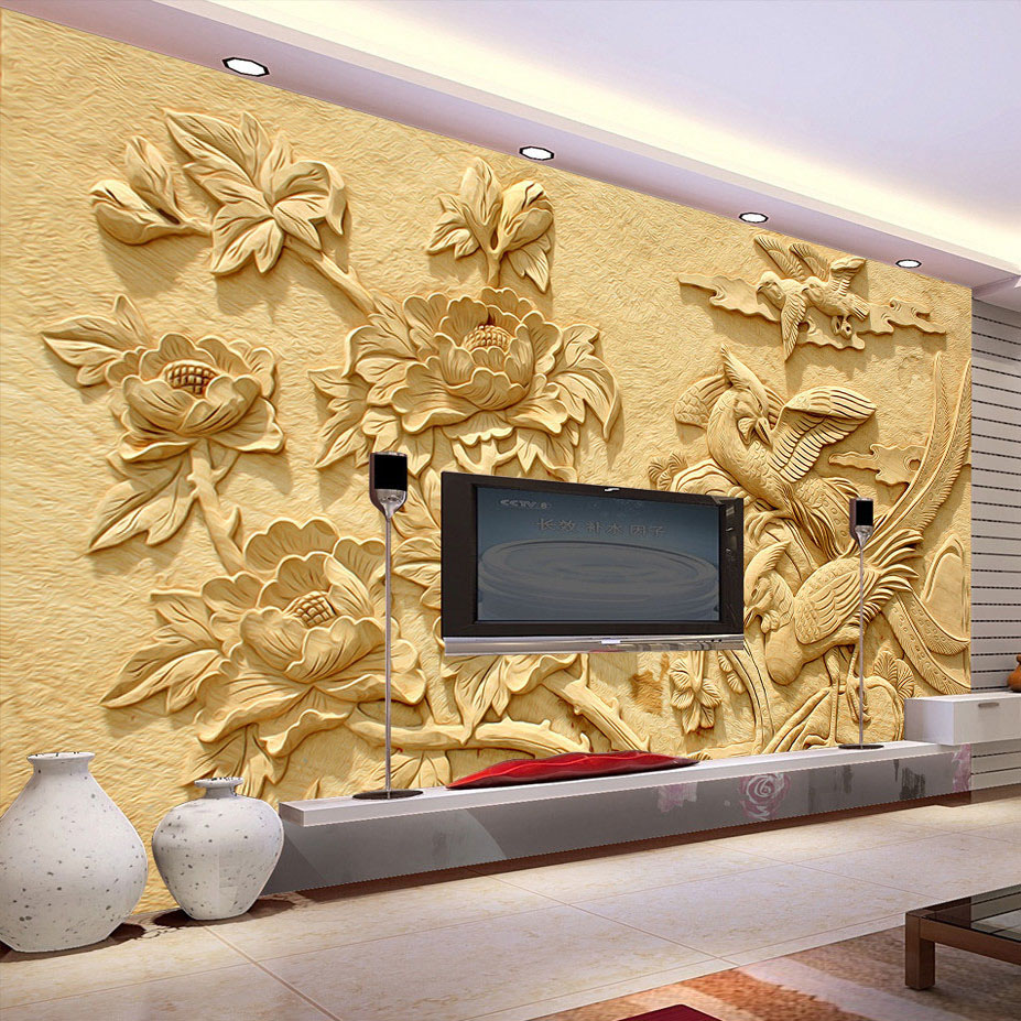 Custom Wall Mural Modern Art High Quality Mural Wallpaper 3D Living ...