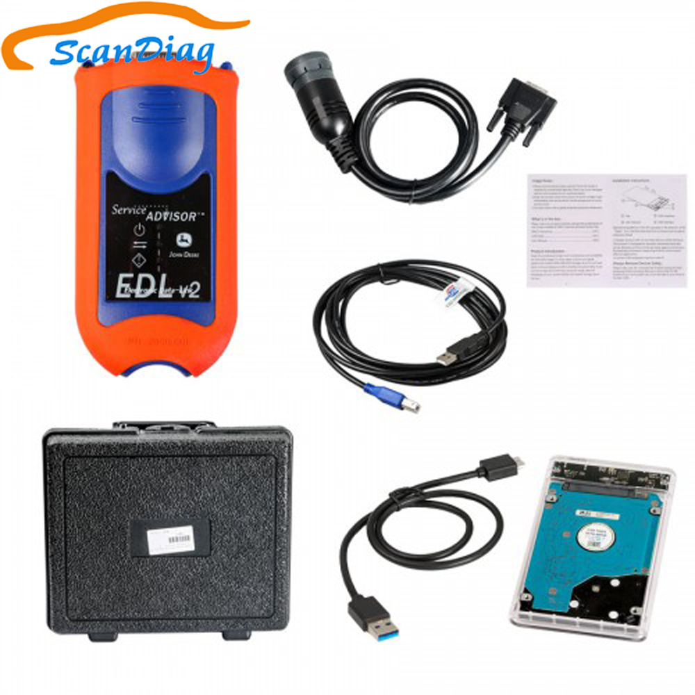 For John Deere Service Advisor EDL V2 Diagnostic Kit Agricultural construction diagnostic <font><b>tool</b></font> scanner <font><b>Electronic</b></font> Data Link kit image
