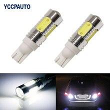 YCCPAUTO из 2 предметов T10 W5W светодиодный светильник лампы белый 194 192 168 COB 7,5 Вт Авто Клин лампа заднего хода автомобиля Автомобильные стояночные огни 12В
