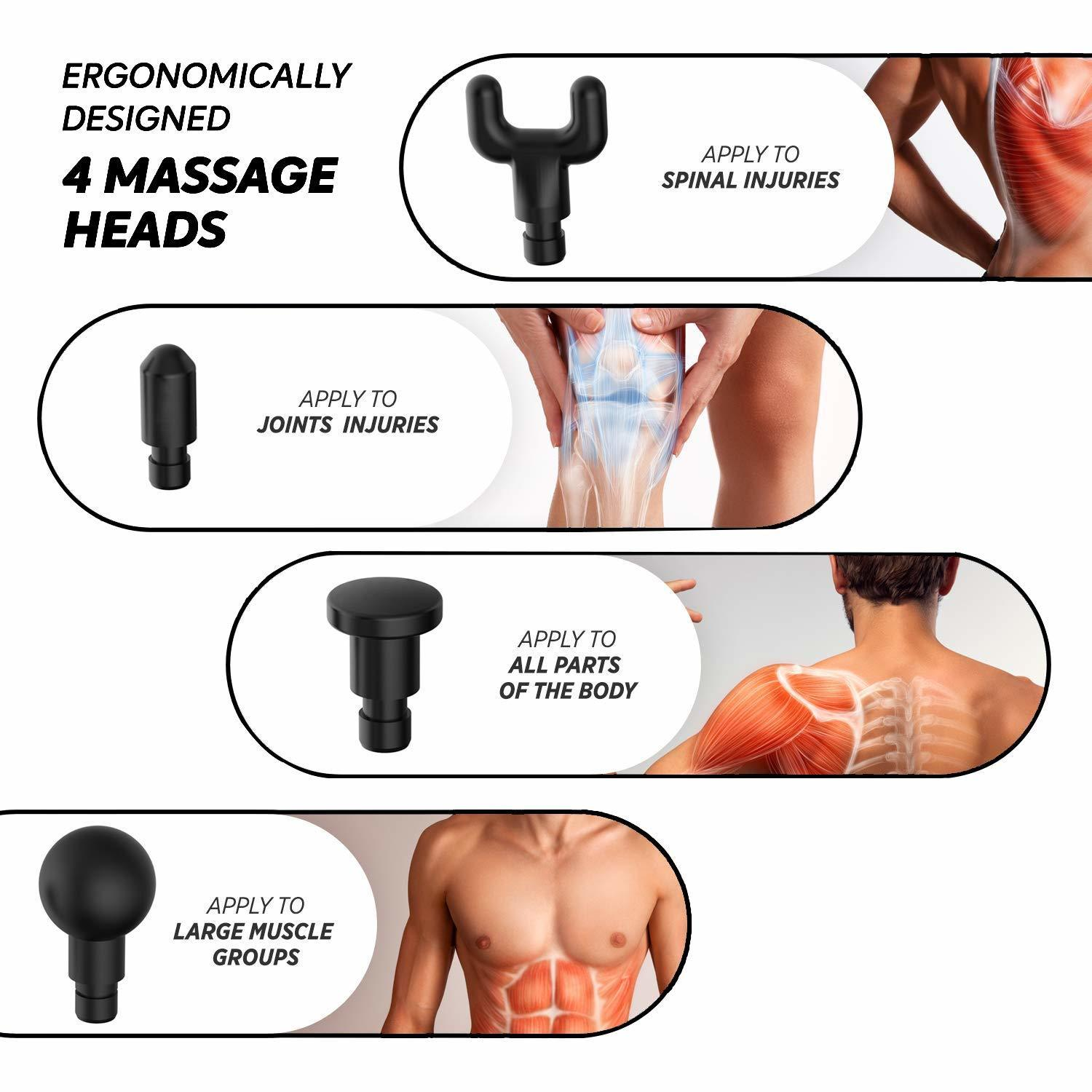 Phoenix A2 Muscle Massage Gun Deep Tissue Massager Therapy Gun Exercising Muscle Pain Relief Body Shaping - 6