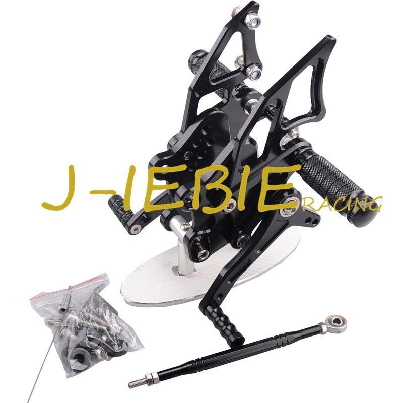 CNC Racing Rearset Adjustable Rear Sets Foot pegs Fit For Yamaha YZF R3 R25 2014 2015 BLACK cnc aluminum motorcycle accessories rearset base foot pegs rear for yamaha yamaha yzf r3 yfz r3 mt 03 mt03 mt 03 2015 2016