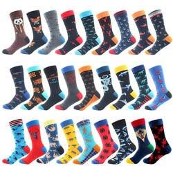 Высокое качество чесаный хлопок носки животный узор длинные трубки забавные счастливые мужские носки новинка скейтборд Экипаж