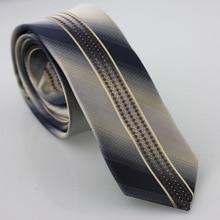 Yibei Coachella галстук Черный, серый цвет Галстуки Для Мужчин's Галстуки с коричневым геометрический бежевый в Вертикальную Полоску и маленькие точки галстук узкий Gravatas