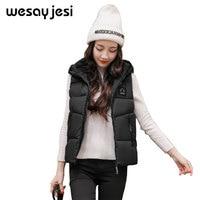 Slim Polyester harajuku jacket Women down Jacket Plus Size Warm Cotton Hooded Winter black female Brand 2018 Spring Autumn
