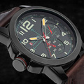 Nova Curren esportes homens Top de luxo relógios dos homens de quartzo de Hour Casual relógio homem pulseira de couro relógio de pulso militar Relogio Masculino