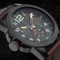 Nueva Curren hombres de lujo de los relojes deportivos hombres de cuarzo Casual reloj de la hora correa de cuero del hombre militar reloj de pulsera Relogio Masculino