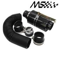 Universal Racing Carbon Fiber Koude Feed Inductie Kit Carbon Fiber Air Intake Kit Luchtfilter Box Met Ventilator