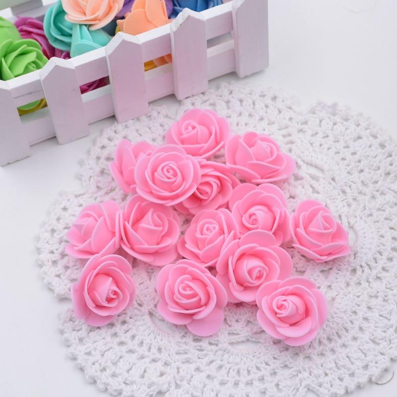 30pcs/lot Mini PE Foam Rose Flower Head Artificial Rose Flowers Handmade DIY Wedding Home Decoration Festive & Party Supplies
