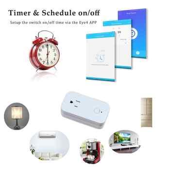 Vstarcam Wireless Smart Wifi Socket Plug Outlet Work with Amazon Alexa Echo Google Home Apple HomeKit Remote Control Timing on