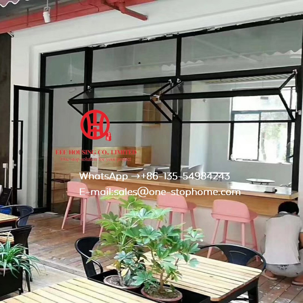 Aluminum Bifold Window,dining-hall,refectory Window,aluminum Bi Folding Window System Smoothly Maximize The Opening Space