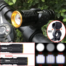world-wind#3011 3000lm Q5 LED Cycling Bike Head Light Lamp 14500/AA Flashlight 360 Mount Clip free shipping