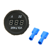 цена на 1pcs Car LED Volt Meter Socket Gauge DC 12V-24V Blue LED Car Motorcycle Digital Voltmeter Socket Voltage Meter Panel