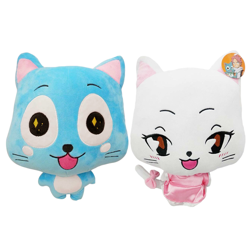 1pcs 20/30cm Cute Plush Toys Fairy Tail Blue Happy Cat Hubby Xia lulu Soft Plush Toy Doll Anime Cosplay Stuffed Dolls