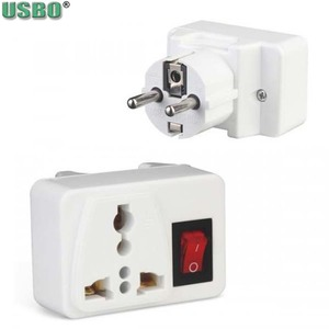 Image 4 - White Portable Universal Wall socket EU US UK extension socket 250V 6A 10A 125V power converter plug Adapter with on off switch