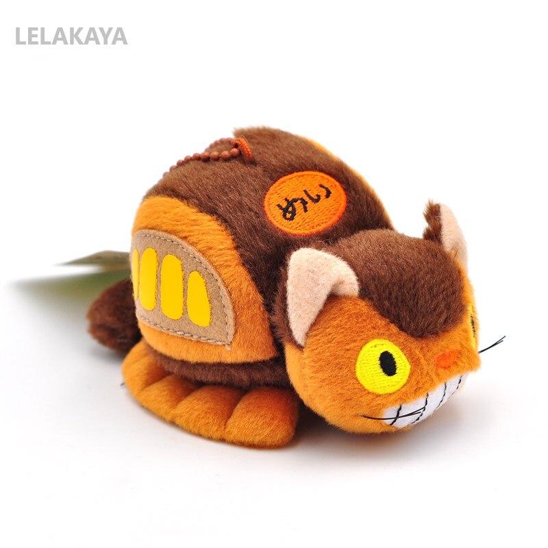 Anime My Neighbor Totoro Cute Bus Totoro Plush Soft Stuffed Kawaii Plush Keychain Wallet Purse Pendant Bag Xmas Gift Doll 8cm