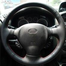 BANNIS ручная сшитая крышка рулевого колеса автомобиля для Старого hyundai Santa Fe
