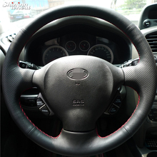 Shining wheat Hand-stitched Car Steering Wheel Cover for Old Hyundai Santa Fe