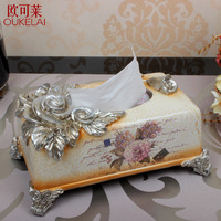 Отель Смола резная Европейская коробка ткани, роскошное Ретро украшение дома, коробка для салфеток, модный курить
