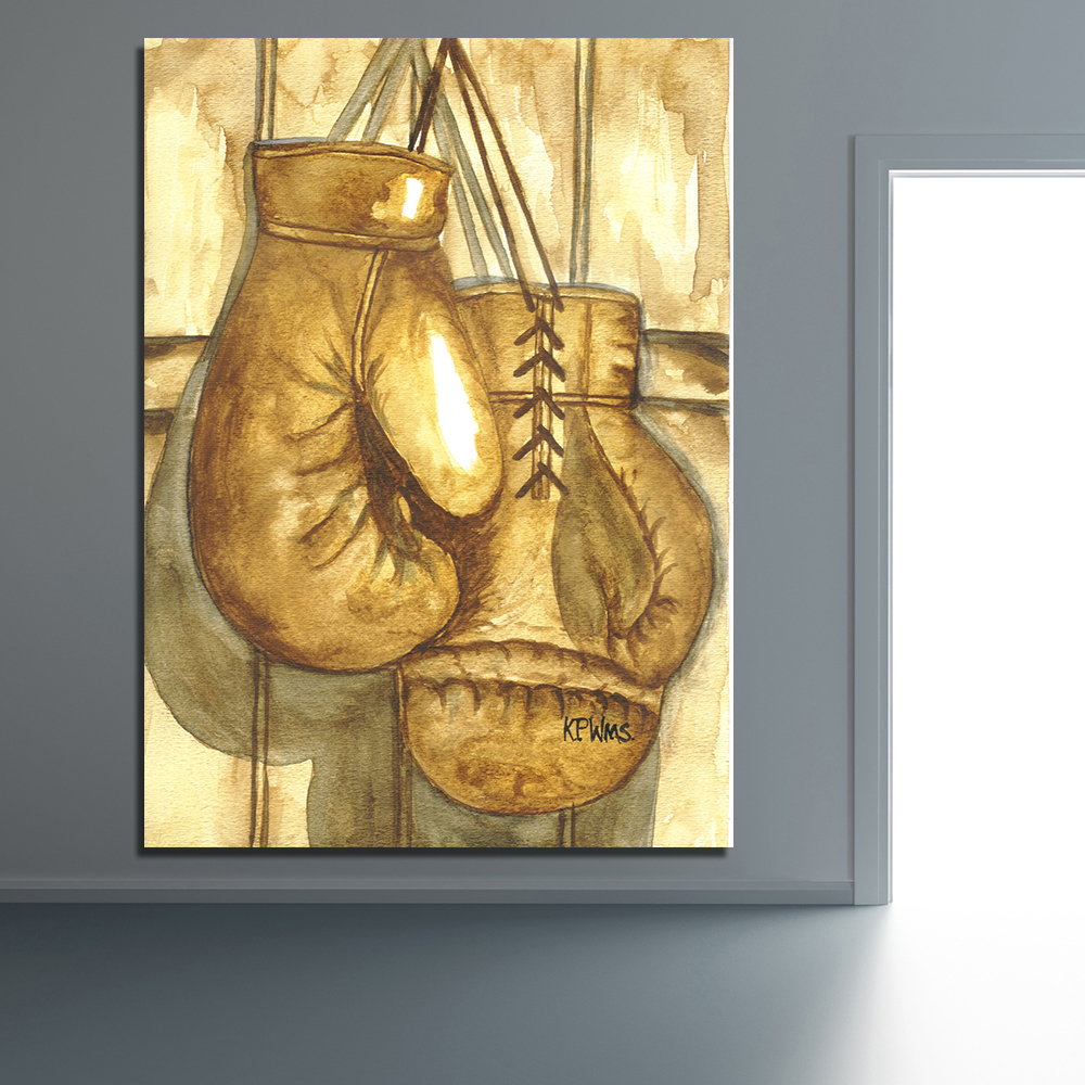 QKART Pop Art Wall Decor Boxing Gloves Wall Pictures for Living Room ...