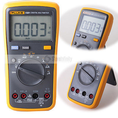 Fluke 15B+ Plus Auto Range Digital Probe Multimeter Meter Free shipping 100% original fluke 15b f15b auto range digital multimeter meter dmm
