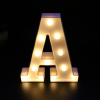 A Z letter white plastic LED night light caption sign letter light lamp family club outdoor interior wall decoration