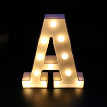A-Z letter white plastic LED night light caption sign letter light lamp family club outdoor interior wall decoration(China)