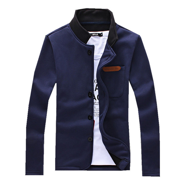 Free shipping 2016 new European style simple men's Hoody Mens single breasted leisure Sweatshirts