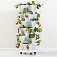 Stack-Up Type Stereoscopische Bloempot Aardbei Plant Pot Voor Bloem Groenten Decoratie
