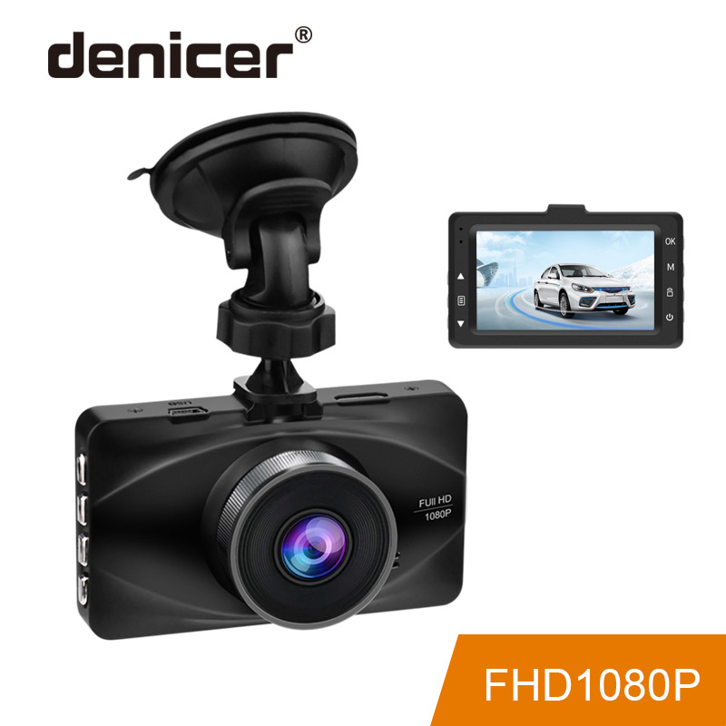 Denicer 3 Inch LCD Dash Cam DVR Full HD 1920x1080P Resolution Car Video Recorder Dash Camera Registrator 170 Degree Wide Angle