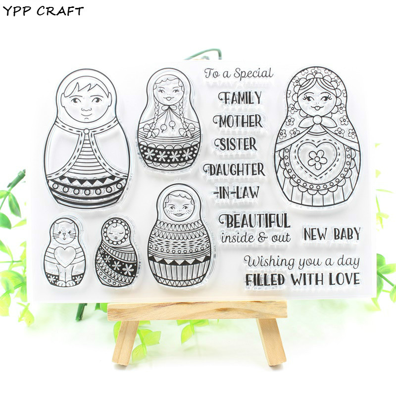 YPP CRAFT New Transparent Clear Silicone Stamps for DIY Scrapbooking/Card Making/Kids Fun Decoration Supply