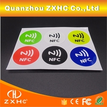 (6PCS/LOT) Ntag213 (203) 13.56mhz NFC Stickers Programmable Smart Tags For All NFC Phones