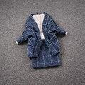 Europea de carga estación de Europa de invierno de las nuevas mujeres de moda de invierno de lana falda falda traje de dos piezas package-do673