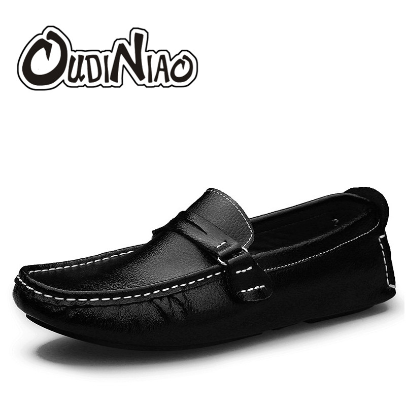 Mens Shoes Casual Large Size Soft Genuine Cow Leather Men Loafers Comfortable Breathable Slip On Men Shoes Zapatos Hombre