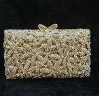 Lady hoge kwaliteit en goedkoopste parel gepersonaliseerde Indian gold diamond bridal tassen clutch portemonnees meisjes portefeuilles tas rood