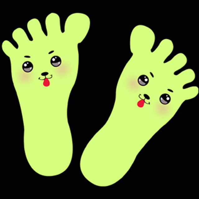 Luminous Feet Wall Stickers For Floor
