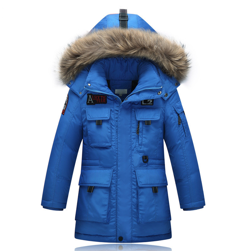 -30Degree 6-16Y Parka Outerwear Coats Children's Cold Winter Clothes Jacket Boy For Boys Down Jackets Coats Warm Kids Baby Y4 new 2017 winter baby thickening collar warm jacket children s down jacket boys and girls short thick jacket for cold 30 degree