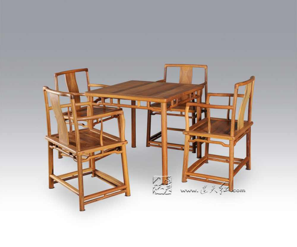 Superb 1 Table 4 Chair Dining Living Room Set Redwood Mahogany Furniture China Retro Rosewood Desk And Solid Wood Back Armchair Wooden Download Free Architecture Designs Scobabritishbridgeorg